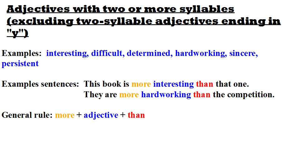 two or more syllables