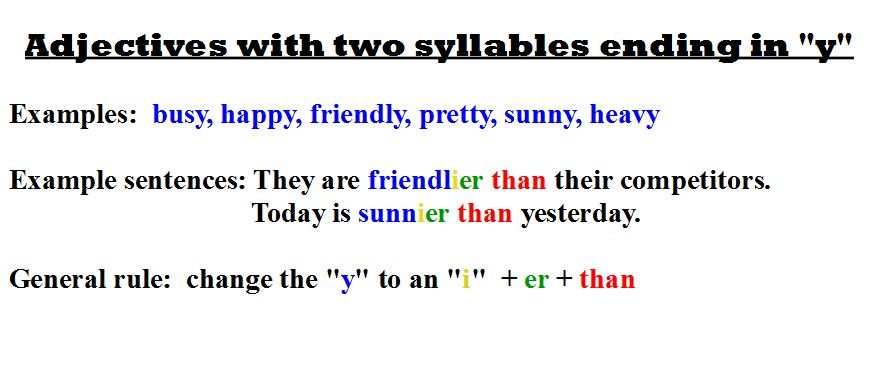 two syllables ending in y